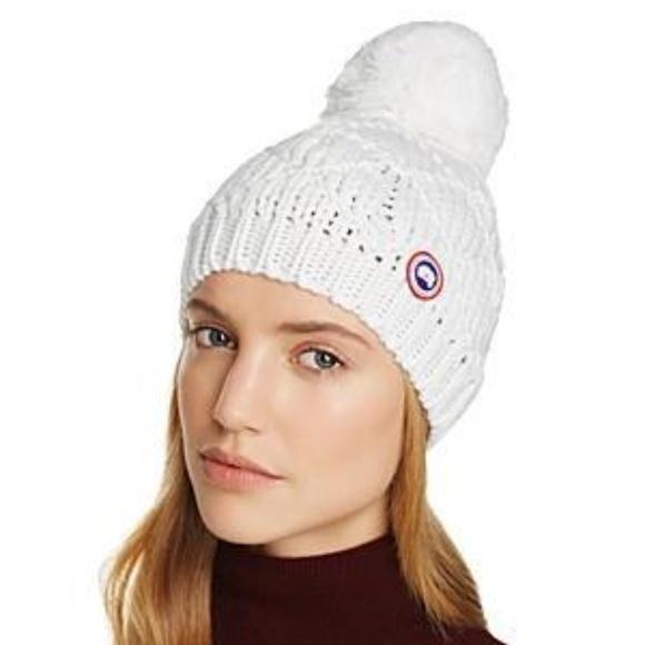 6dc4b40b206 Canada Goose Women s Pom Pom Beanie Cap Hat